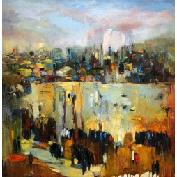 Jerusalem Abstract Brown